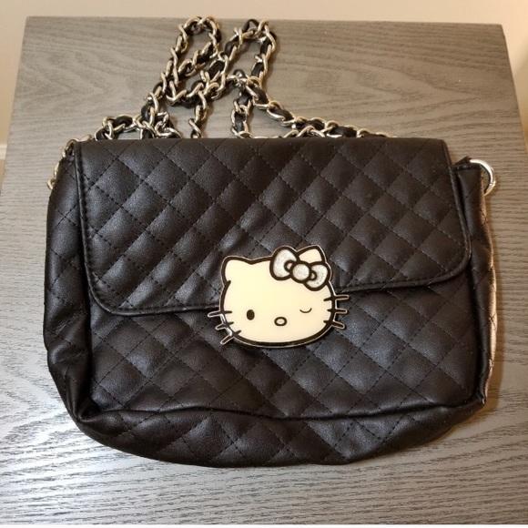 e18485d50e Hello Kitty Handbags - Hello Kitty Black Loungefly Quilted Crossbody Bag